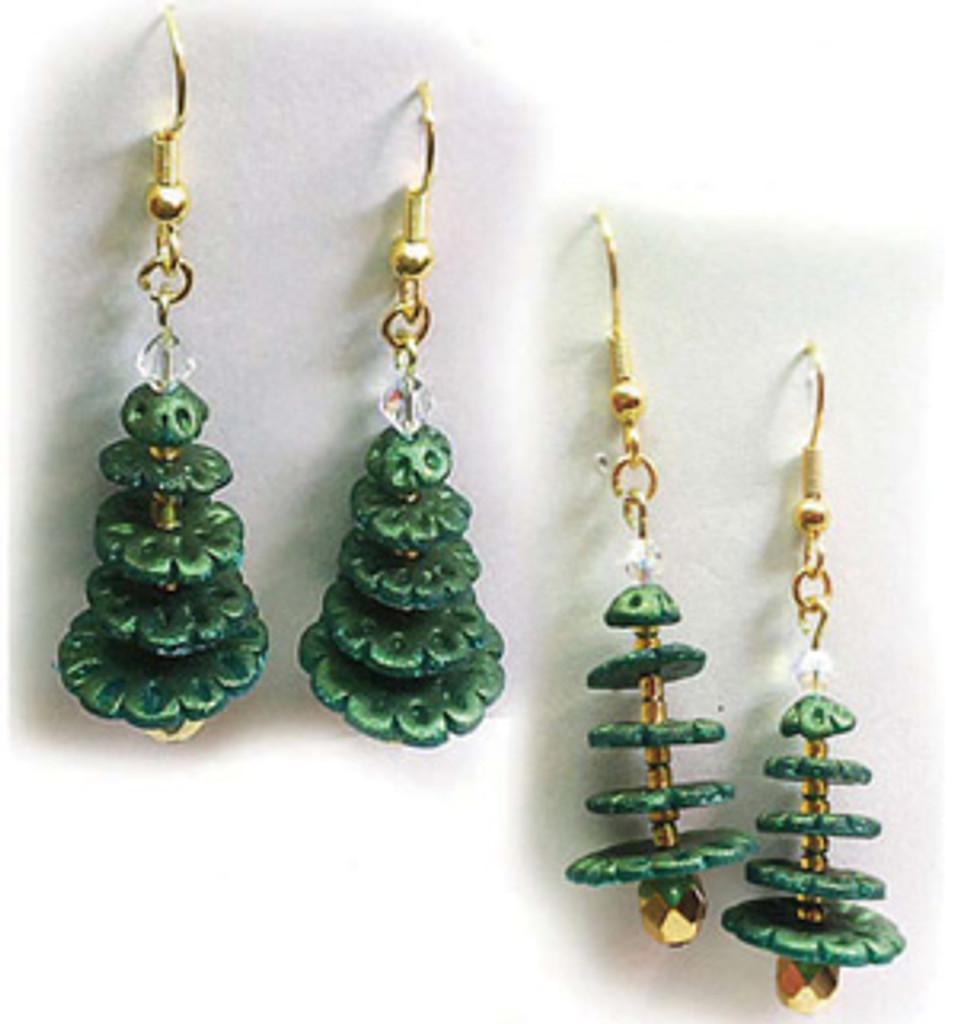 Christmas Tree Earrings or Pendant Tutorial
