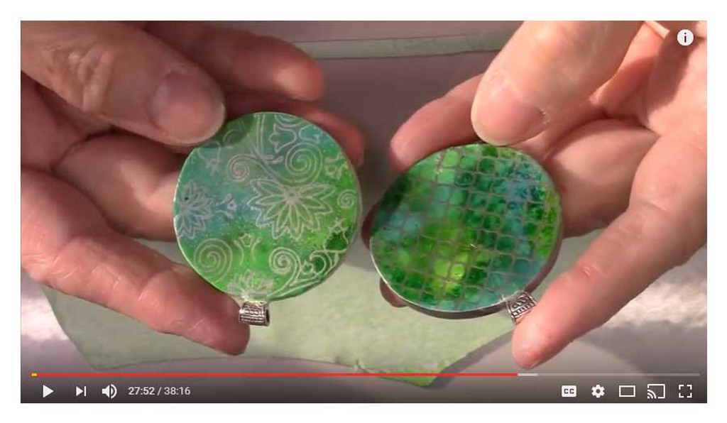Silk Screens with Alcohol Ink Backgrounds by Gayle Thompson