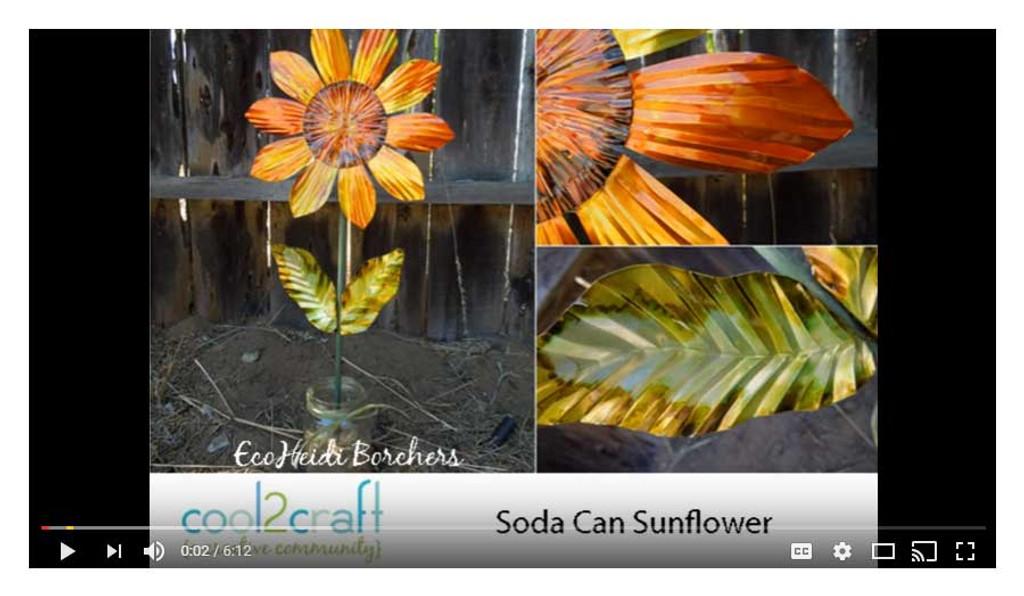 Soda Can Sunflower Video