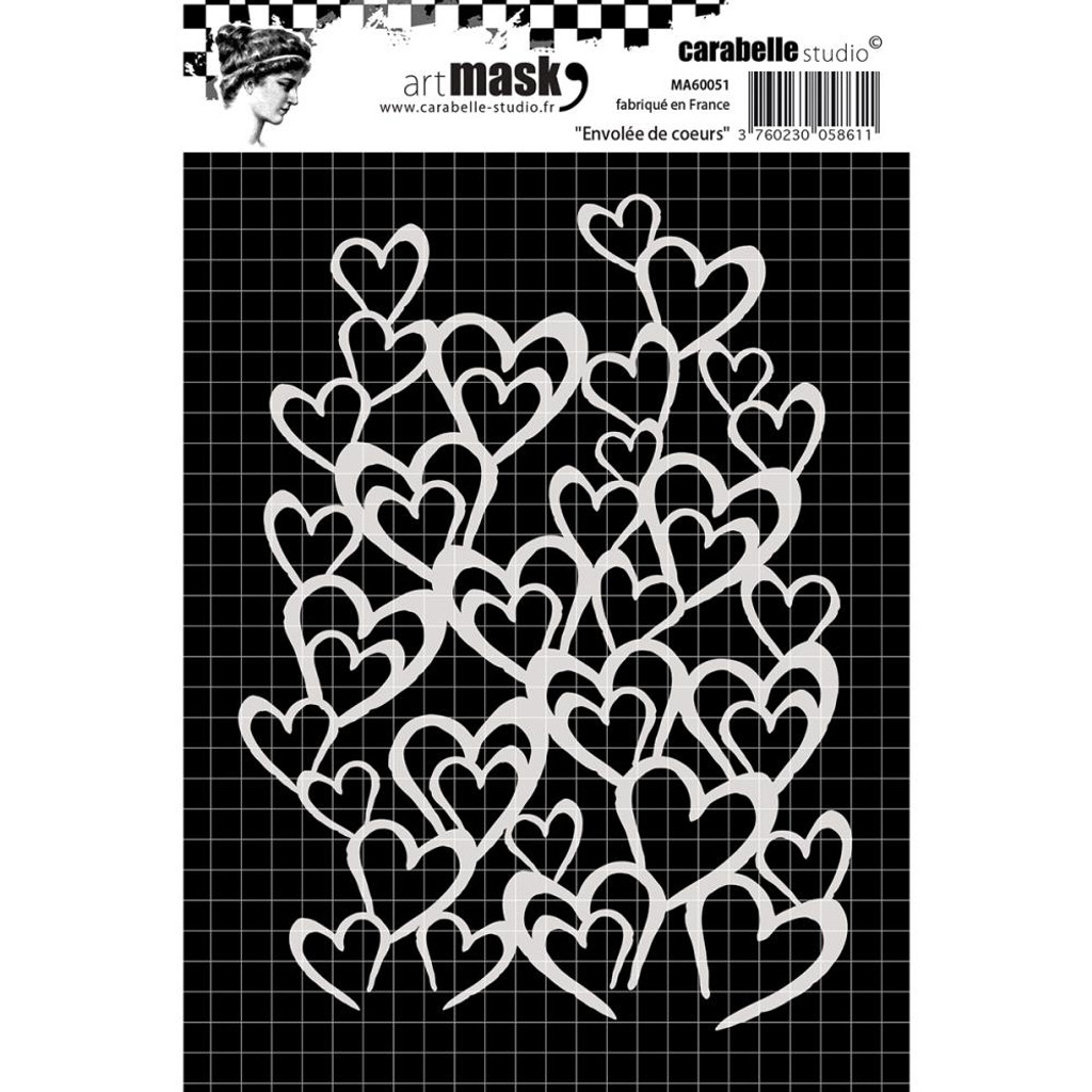 Stencil Flight of Hearts from Carabelle Studio