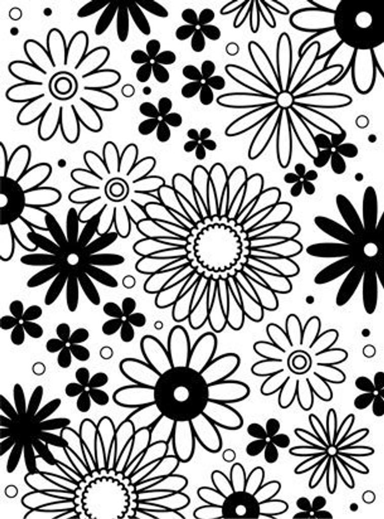 """Background Embossing Folder 4.25""""X5.75"""" - Flower Frenzy"""