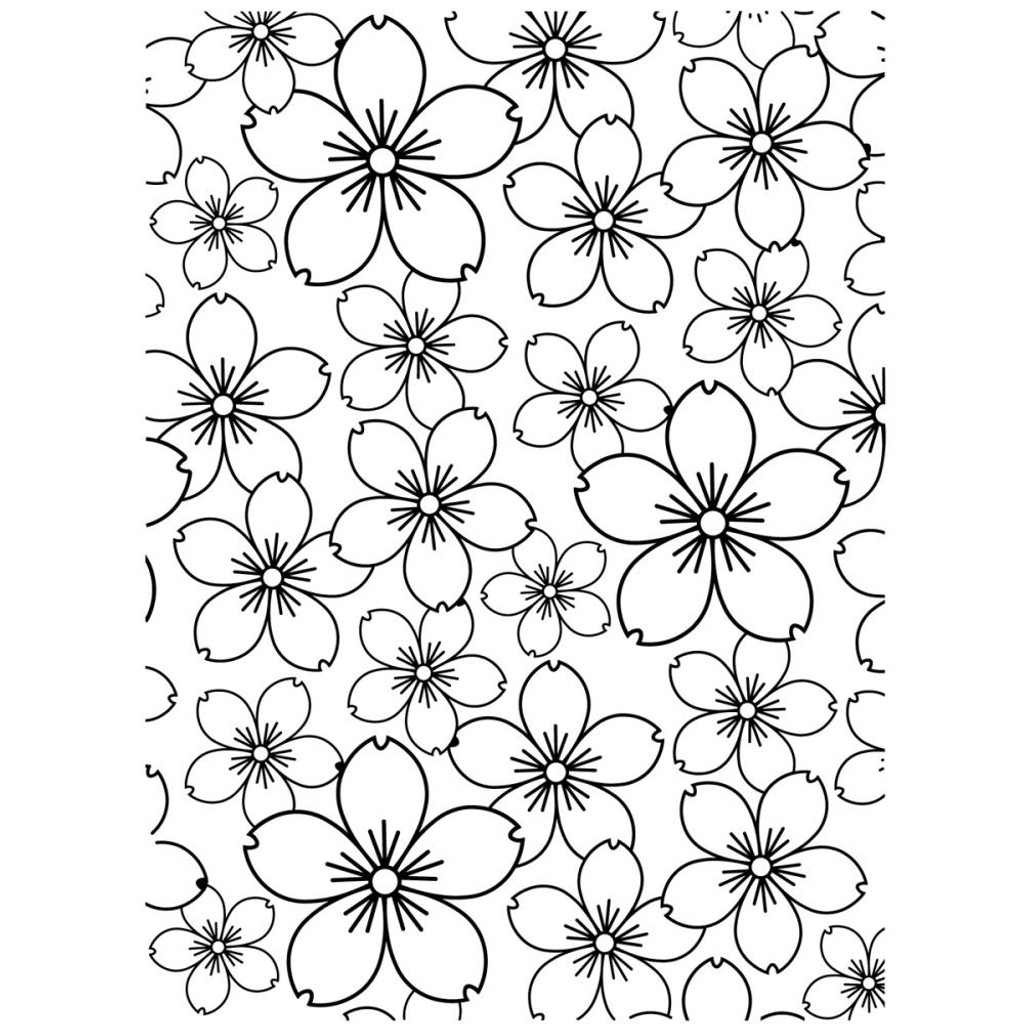 "Background Embossing Folder 4.25""X5.75"" - Cherry Blossom"