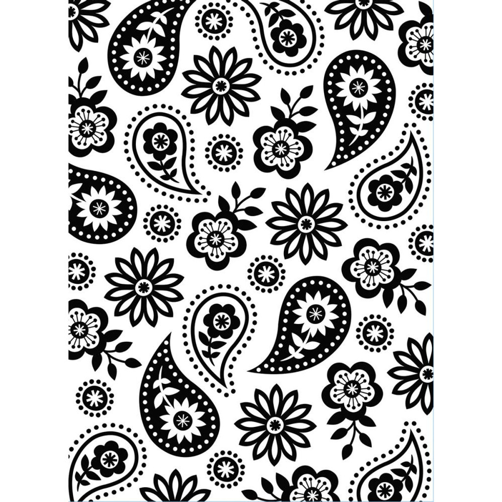 "Background Embossing Folder 4.25""X5.75"" - Floral Paisley"