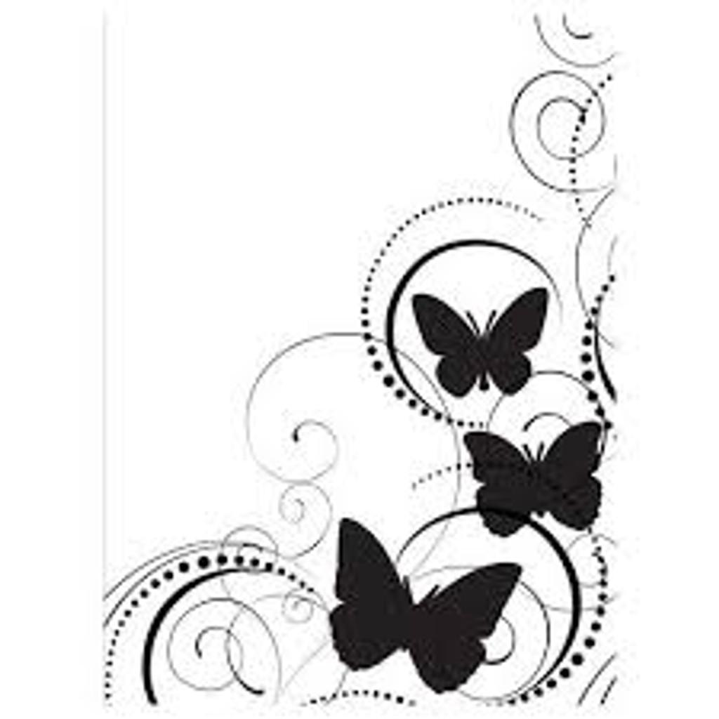 """Butterfly Swirl - Background Embossing Folder 4.25""""X5.75"""""""