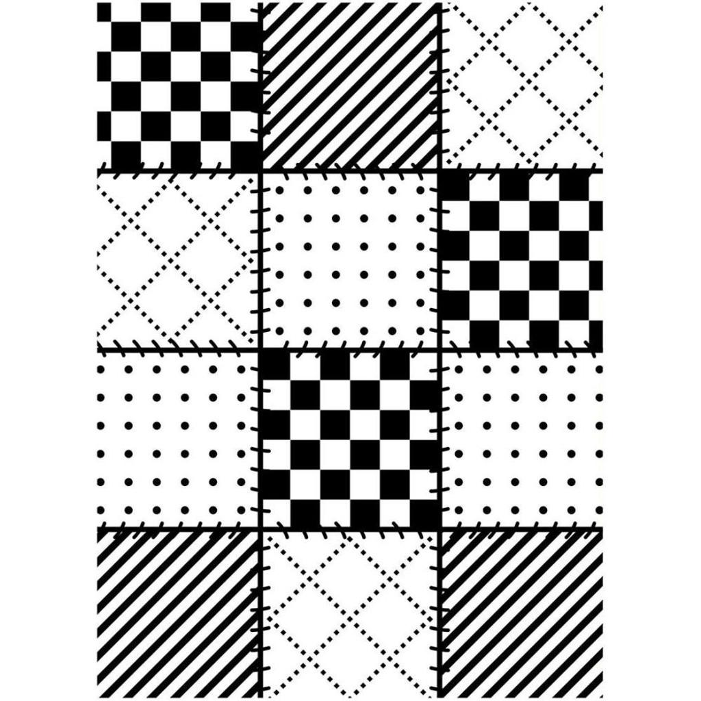 "Background Embossing Folder 4.25""X5.75"" - Quilt Blocks"