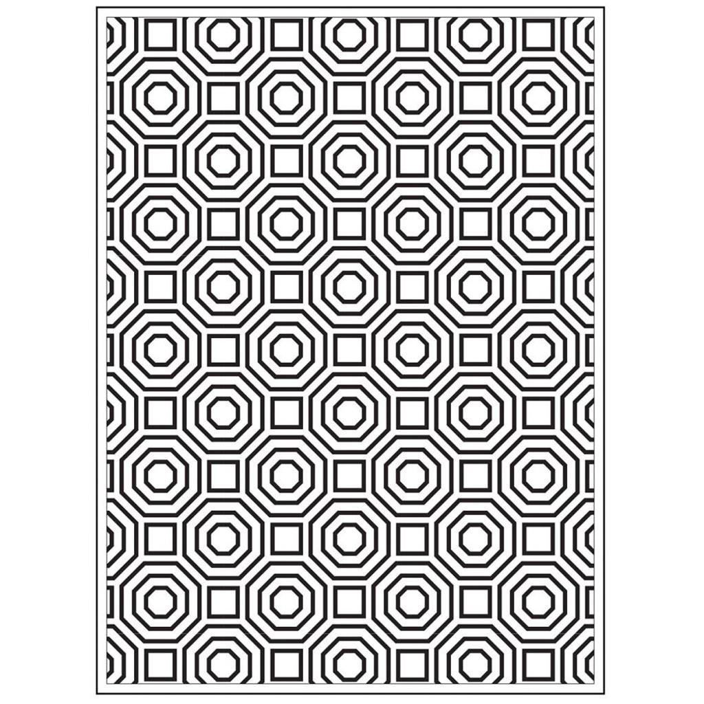 "Background Embossing Folder 4.25""X5.75"" - Octagons"