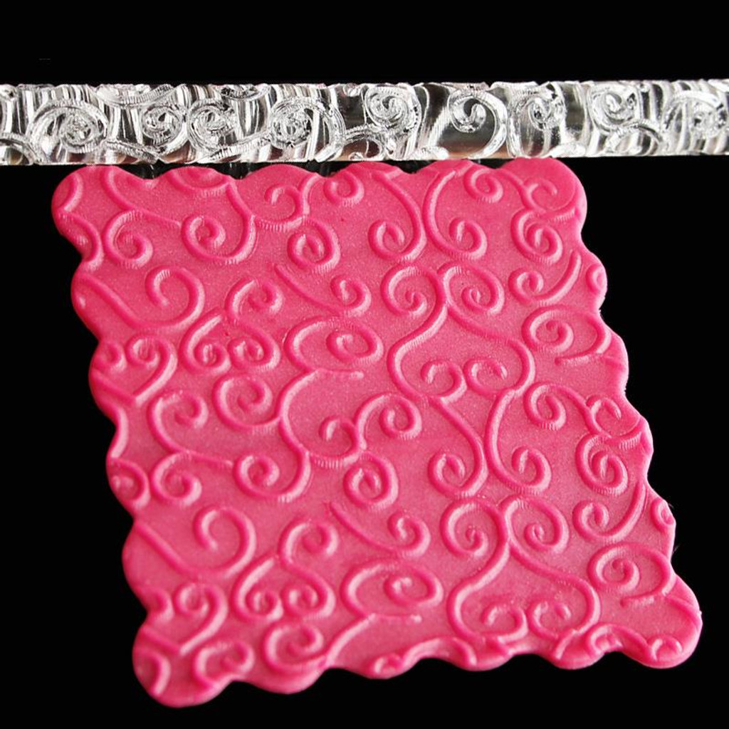 Acrylic Rolling Pin Flower Vine