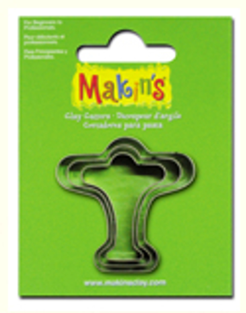 Makin's Clay 3 Piece Cutter Set Airplane