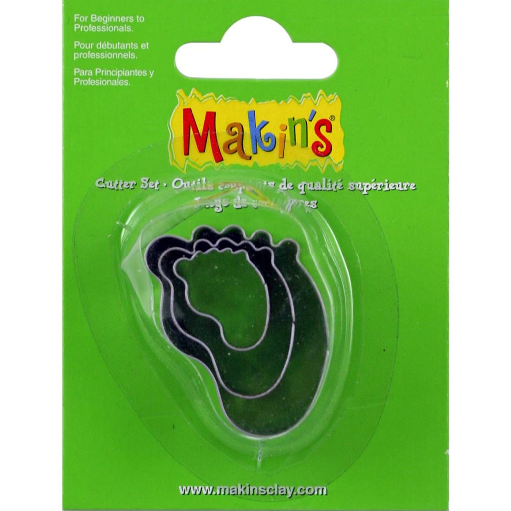 Makin's Clay 3 Piece Cutter Set Baby Foot