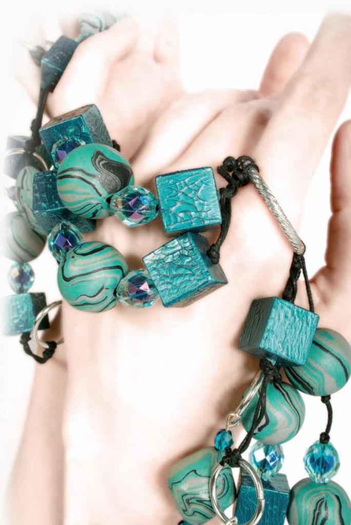 Pardo Jewellery Clay - Amazonite with Silver Glitter