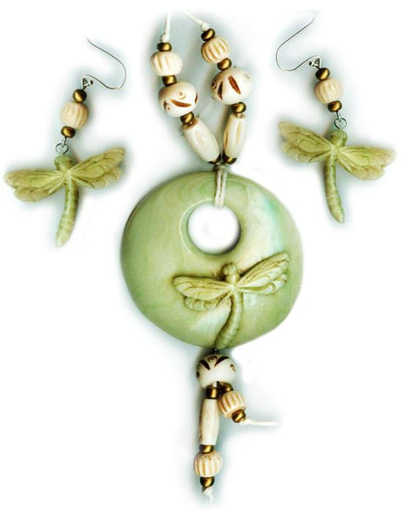 Circling Dragonflies Jewelry Set Free Tutorial