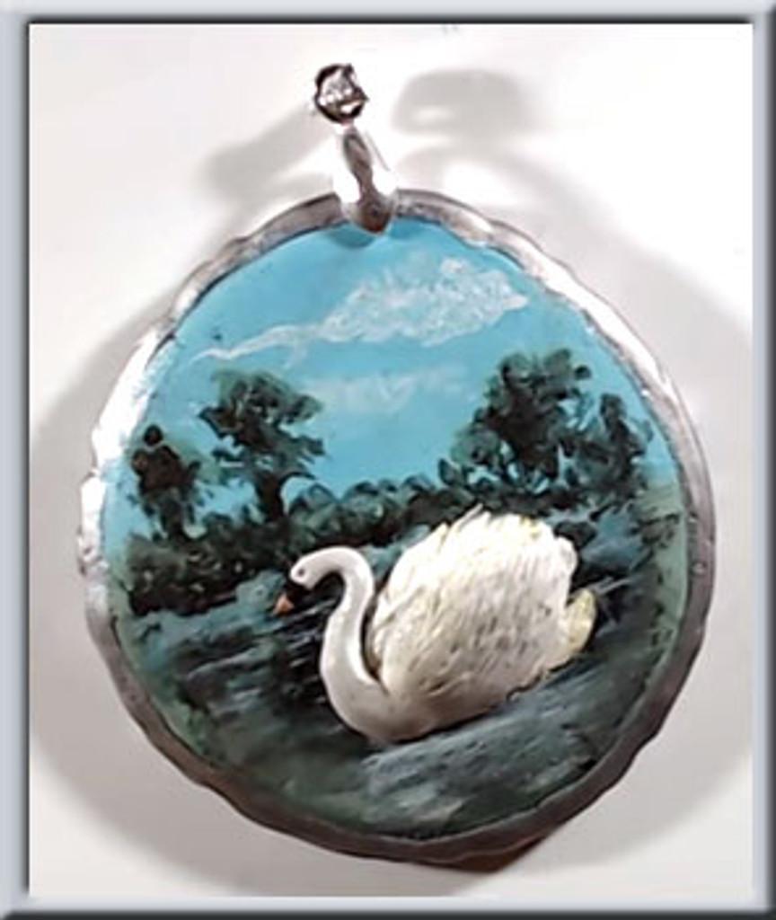 Sculptured Swan Pendant Tutorial - FREE