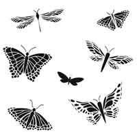 Stencil Butterfly Mariposas 6 x 6