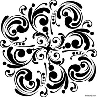 Stencil Mandala 6 x 6