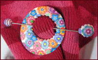 Cane Covered Shawl Pin and Pendant Tutorials