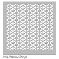 "MIX-ables Stencil 6""X6"" - Geometric Grid"