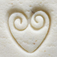 Kor Tools Heart with Double Swirl Stamp