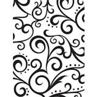 "Background Embossing Folder 4.25""X5.75"" - Scroll"