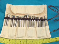 Metal Stamp Tools Set of 20 Pieces In A Canvas Bag
