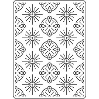 "Background Embossing Folder 4.25""X5.75"" - Tribal Background"