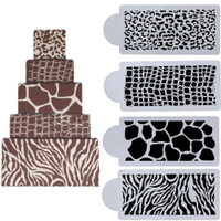 Animal Print set of 4 Stencils