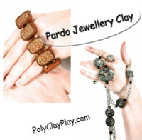 Pardo Jewellery Clay   Turquoise with Gold Glitter