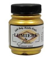 Jacquard Lumiere Metallic Acrylic Paint 2.25oz - Bright Gold