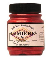 Jacquard Lumiere Metallic Acrylic Paint 2.25oz - Metallic Russet