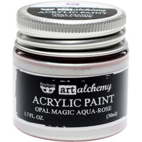 Finnabair Art Alchemy Acrylic Paint -  Opal Magic Aqua/Rose