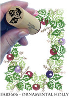 Rubber Stamps Ornamental Holly Set
