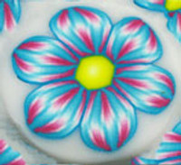 Yonat's Pink and Blue Flower Cane Tutorial