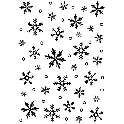 "Background Embossing Folder 5.75"" - Snowflake"