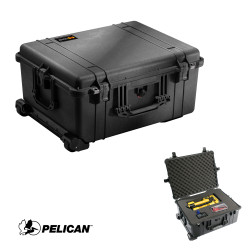 Pelican 1610 Large Protector Case - Strong Polyurethane Wheels with Stainless Steel Bearings