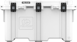 Pelican 150QT Elite Cooler With Corrosion Resistant Stainless Steel Hardware (Tan, White)