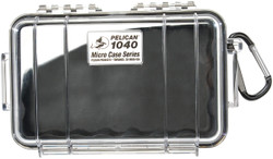 Pelican 1040 Micro Case with Carabiner - Waterproof, Crushproof, and Dustproof
