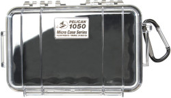 Pelican 1050 Micro Case with Carabiner - Waterproof, Crushproof, and Dustproof