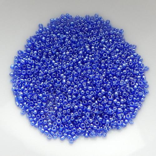 15/o TOHO Seed Beads Transparent Cobalt Luster 10 Grams Glass Bead No. 116
