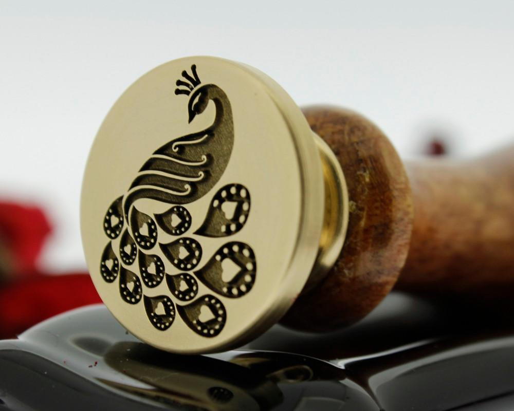 Wax Seal Love Peacock Design Only Laser Engraved