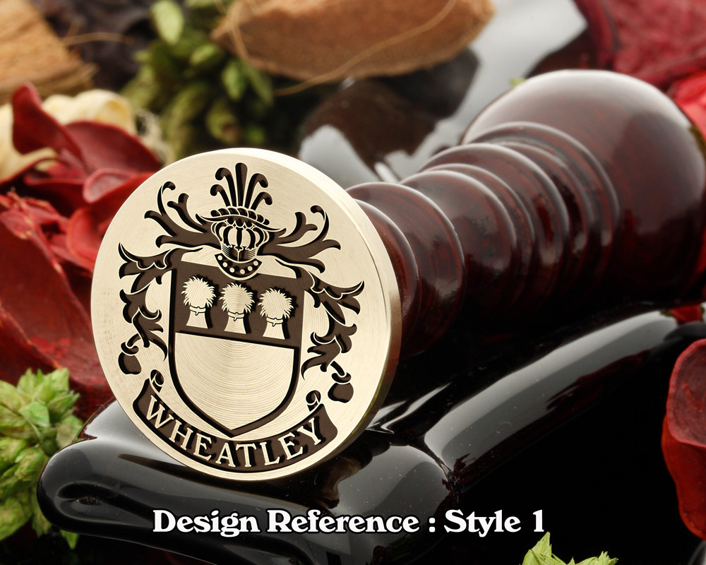 Wheatley (English) Family Crest Wax Seal D1