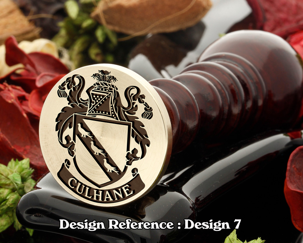Culhane Family Crest Wax Seal D7