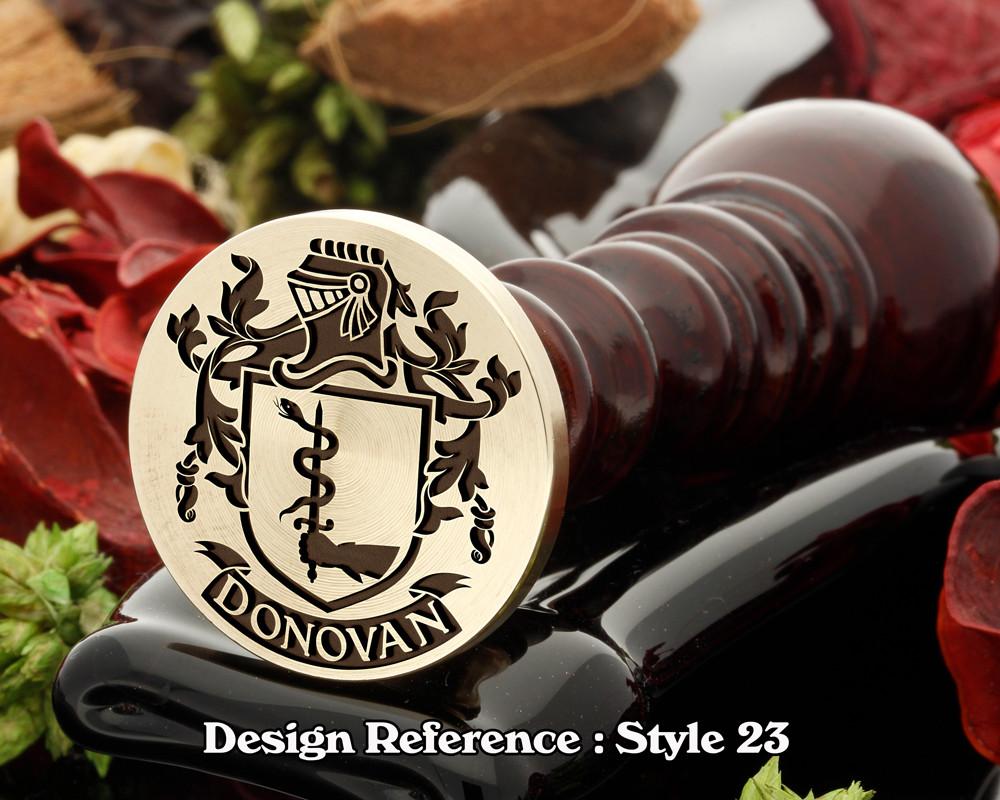 Donovan Family Crest Wax Seal D23