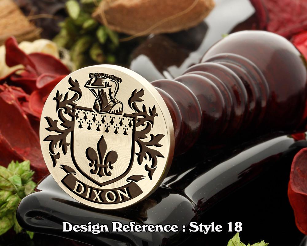 Dixon Family Crest Wax Seal D18