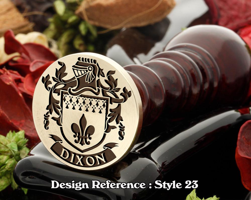 Dixon Family Crest Wax Seal D23