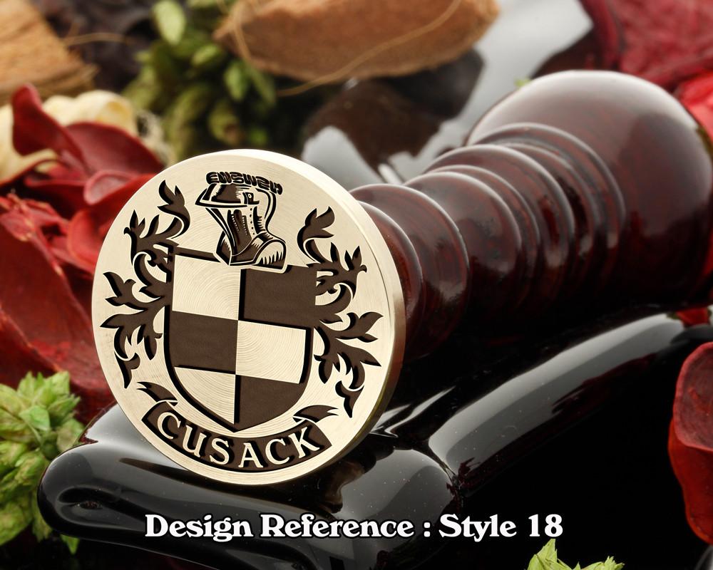Cosgrove Family Crest Wax Seal D18
