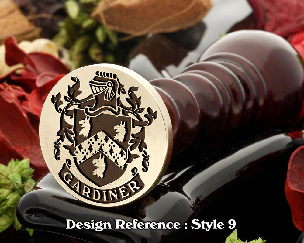 Gardiner Family Crest Wax Seal D9