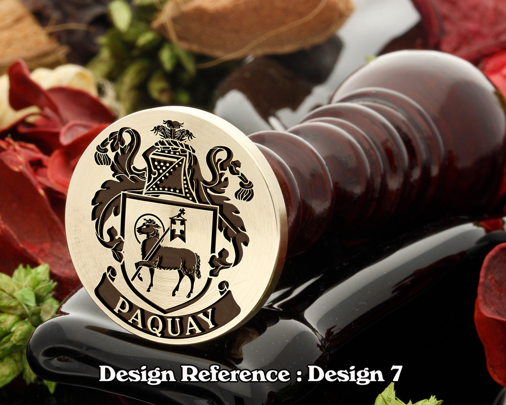 Paquay Family Crest Wax Seal D7