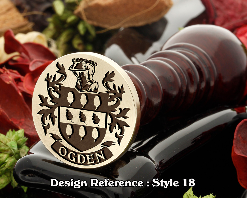 Ogden Family Crest Wax Seal D18