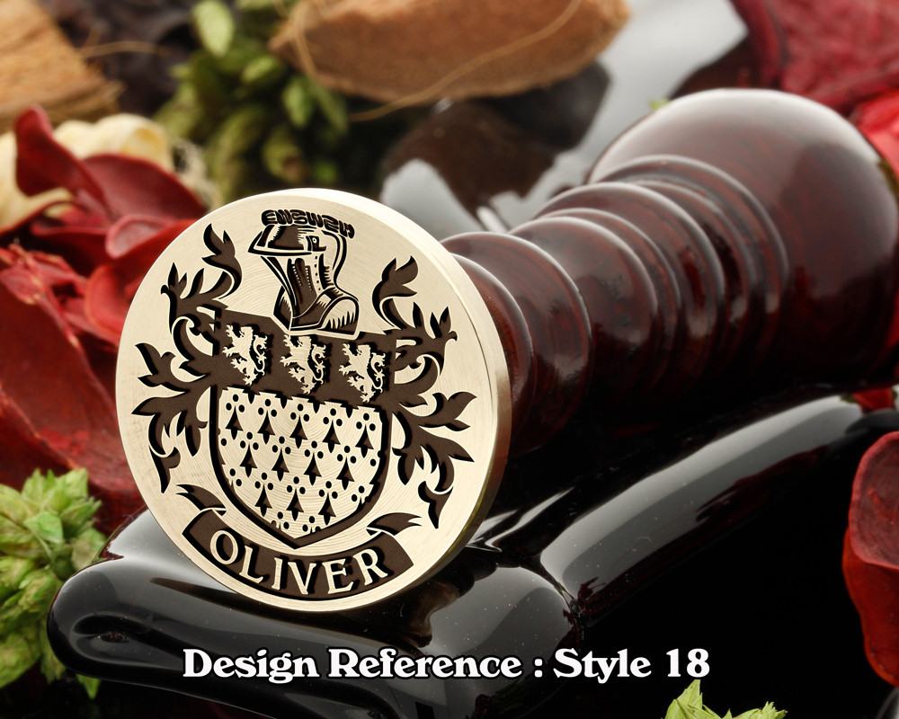 Oliver Family Crest Wax Seal D18