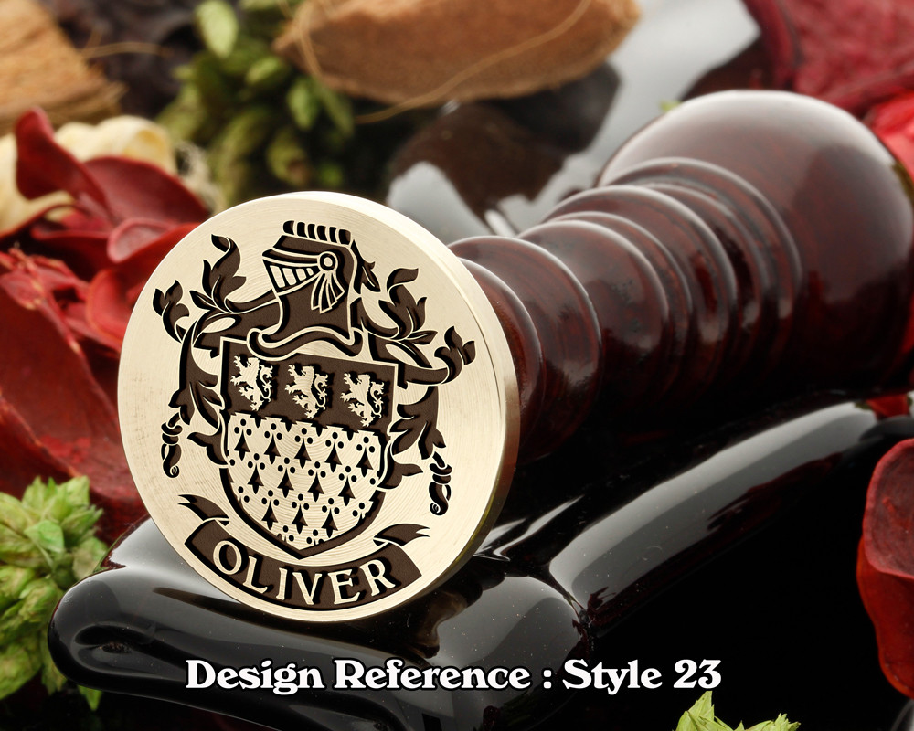 Oliver Family Crest Wax Seal D23