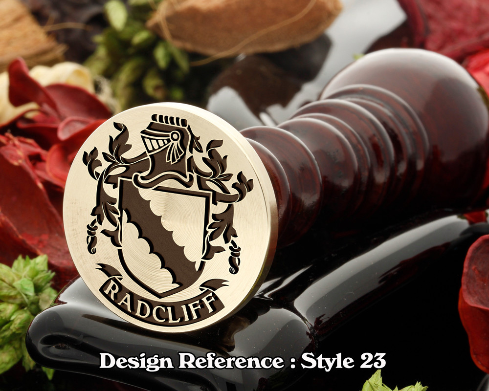 Radcliff Family Crest Wax Seal D23